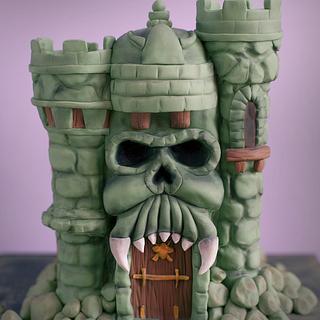 Castle Greyskull inspired cake