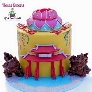 Okinawa cake for It's a Small World Collaboration