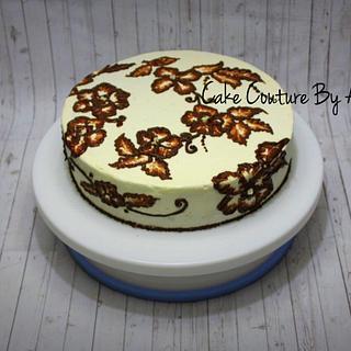 Diwali mehandi designed cake