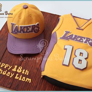 LA Lakers Cap & Vest - Cake by Scrumptious Buns
