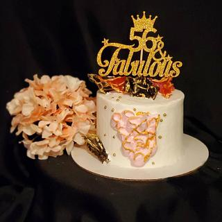 56 and Fabulous Birthday Cake