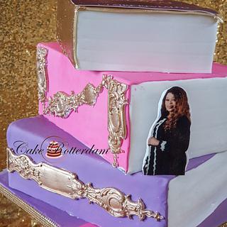 Editors book cake