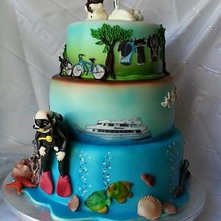 The hobbies of his life - Cake by Maja Motti