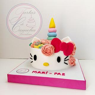 TARTA HELLO KITTY - UNICORNIO - Cake by Camelia