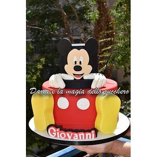 Mickey mouse cake and sweet table