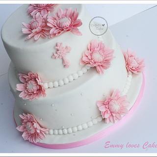 Communion cake for a little girl