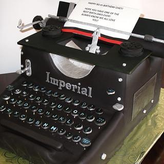 Typewriter cake - Cake by Jana Cakes