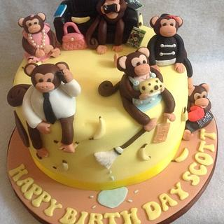 Family Monkey Cake