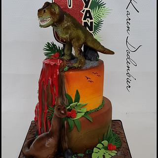 Dino cake - Cake by Karen Dodenbier