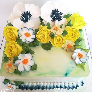 Flower cake di panna ☺️