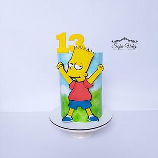 Los Simpson - Cake by Sofia veliz