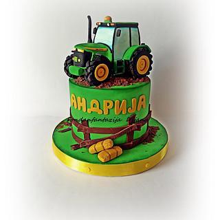 John Deere themed cake