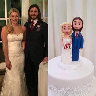 Bespoke Bride and Groom cake topper