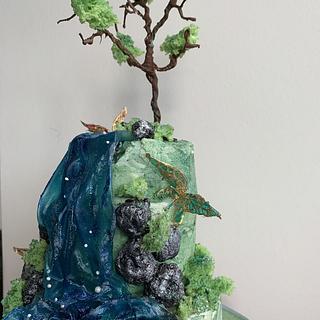 Waterfall cake - Cake by Sneakyp73