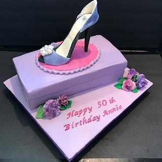 Stiletto Shoe & Shoebox Cake