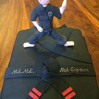 Karate graduation cake - Cake by Paul Kirkby