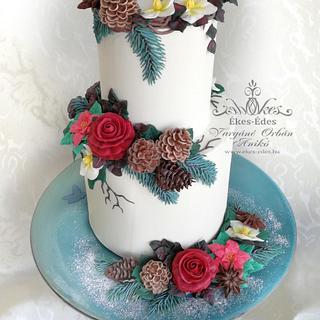 Royal Icing Winter Cake