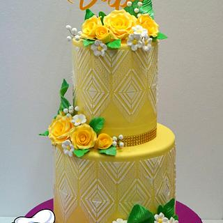 Custard Yellow - Cake by Xavier Boado