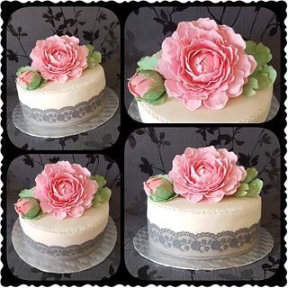 Peony Rose cake