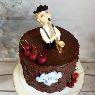 Saxophonist cake:) - Cake by SojkineTorty