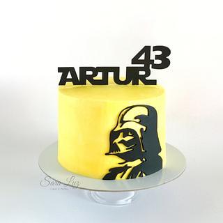 Dark Vader Buttercream Cake