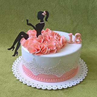 Girl cake  - Cake by MoMa