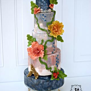 Italian Majolica Inspired for Around the World in Sugar Weddings Collaboration