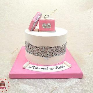 Engagement cake - Cake by Sara Hossam