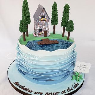 Lake House cake - Cake by Diane