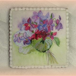 """Hand Painted """"Violets"""" - Cake by Sweet pear"""