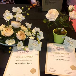 Twin Gold Awards at Cake International 2016-NEC- Birmingham