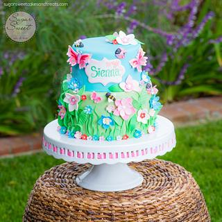 Spring Garden Cake - Cake by Angela, SugarSweetCakes&Treats