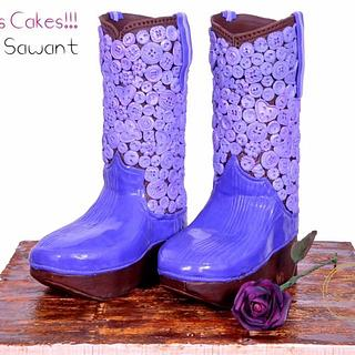 "Little Princesses Boots- Inspired by ""Want My New Shoes"" PDCA CAKER BUDDIES COLLABORATION"