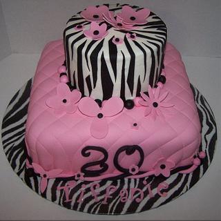 Quilted Zebra Birthday Day