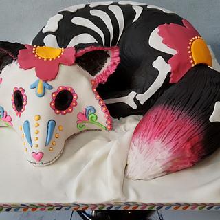 Sugar Skull Bakers - Fox - Cake by mamgi
