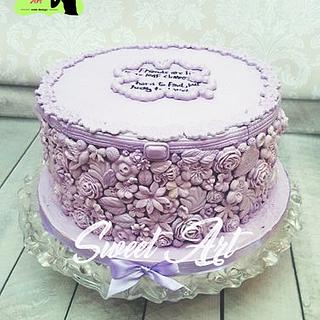 lilac Bas-Relief cake - Cake by Sweet Art