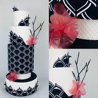 Wedding cake avant-gardiste  - Cake by Cindy Sauvage