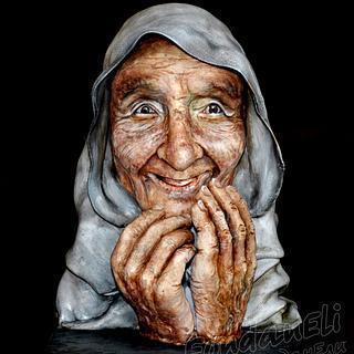 Grandma (bust-portrait) - Cake by FondanEli