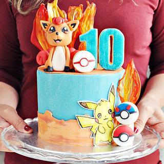 Vulpix Pokémon Cake