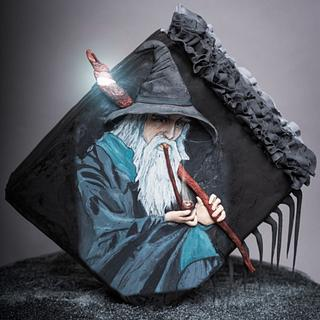 Gandalf painted cake