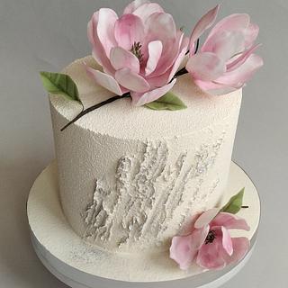Magnolia cake - Cake by Jitkap