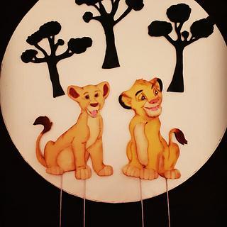 Simba&Nala cake topper