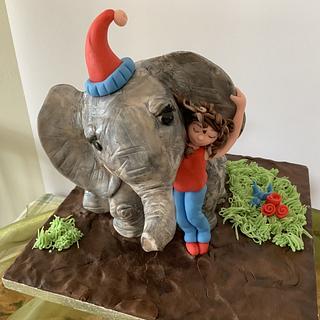 Elephant and girl