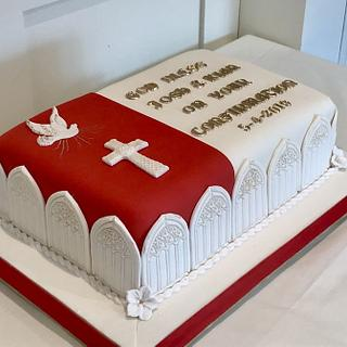 Twin's Confirmation Cake