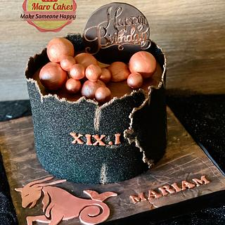 Elegant zodiac sugar sheet cake