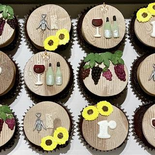 Wine Themed Cupcake Toppers - Cake by Sugar by Rachel
