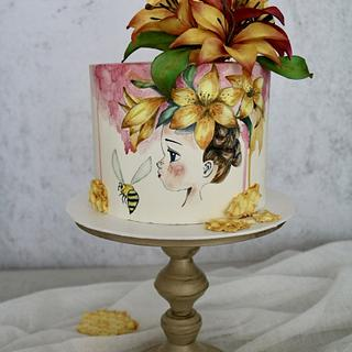 Honey Bee Girl - Cake by tomima