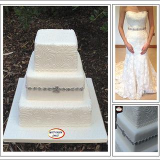 Simple White Wedding Cake - Cake by Sweet Fusion Cakes (Anjuna)