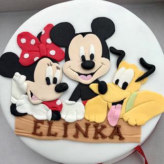 Minnie, Mickey & Pluto