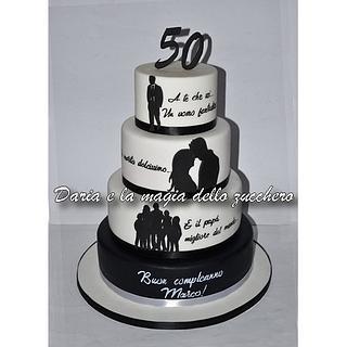 Silhouette cake